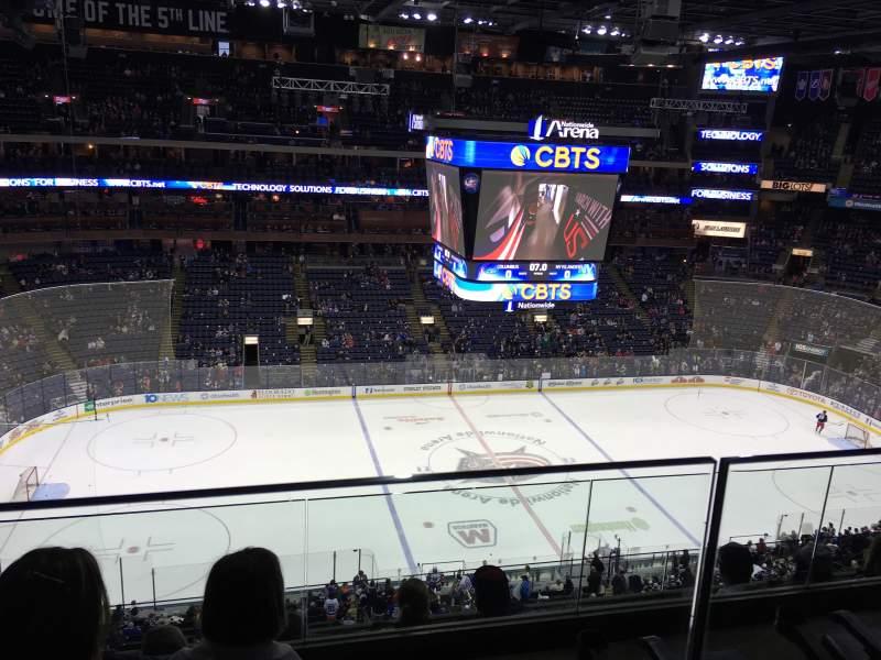Vista sentada para Nationwide Arena Secção 204 Fila E Lugar 12