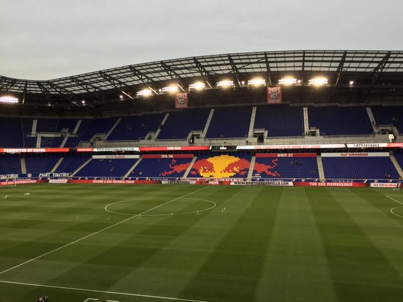Vista sentada para Red Bull Arena (New Jersey) Secção 110 Fila 16 Lugar 15