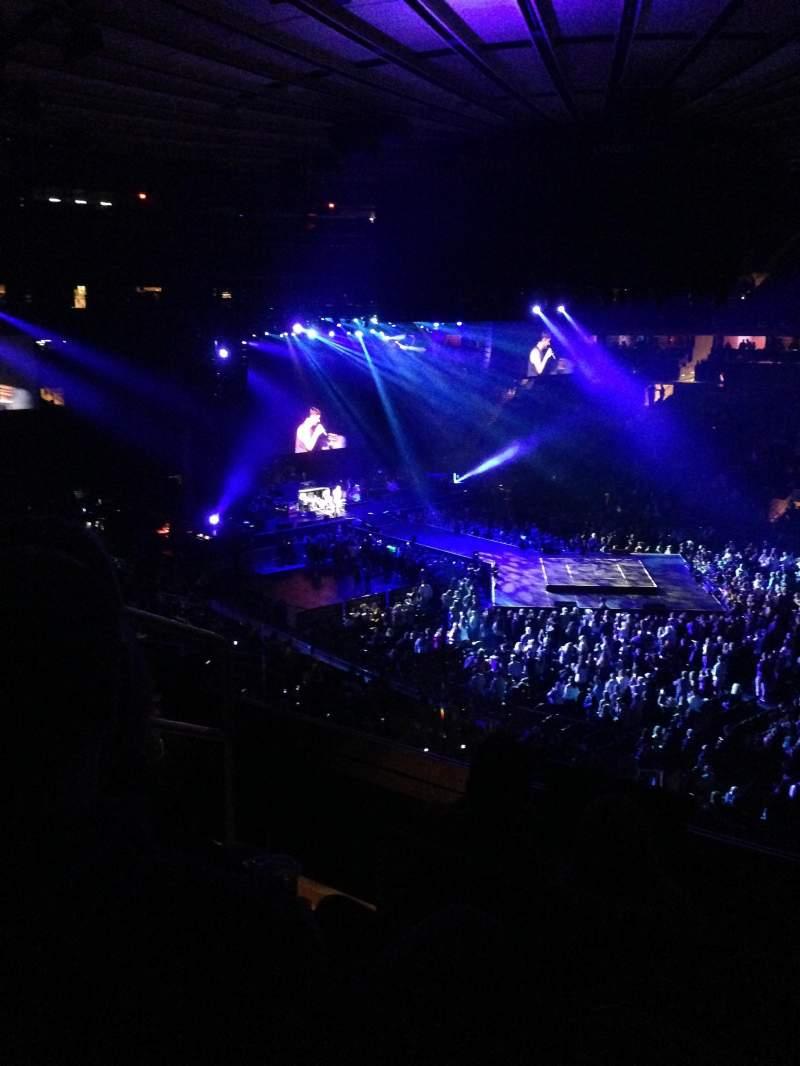 Vista sentada para Madison Square Garden Secção 227 Fila 4 Lugar 4
