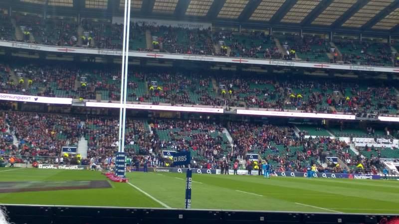 Vista sentada para Twickenham Stadium Secção L29 Fila 2 Lugar 315