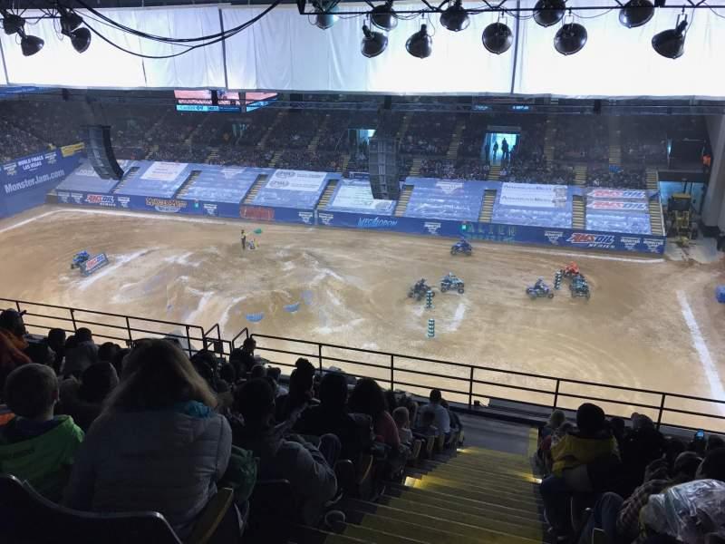 Vista sentada para Royal Farms Arena Secção 304 Fila M Lugar 13