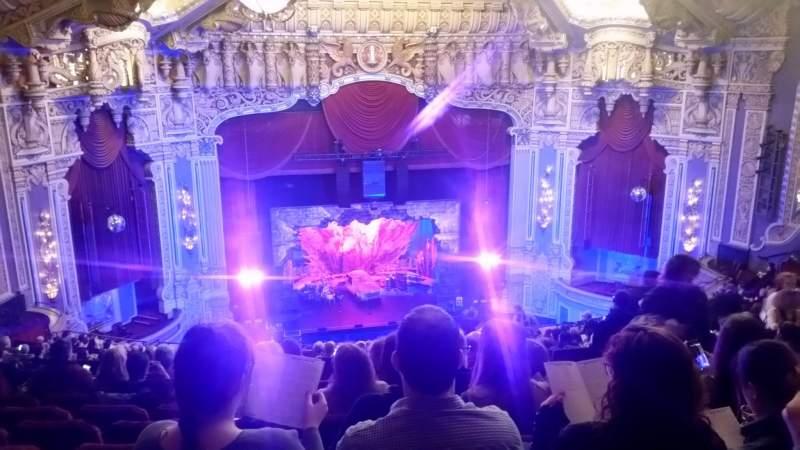 Vista sentada para Nederlander Theatre (Chicago) Secção Balcony LC Fila U Lugar 331