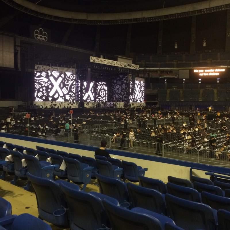 Vista sentada para Olympic Stadium, Montreal Secção 132 Fila OO Lugar 7-9