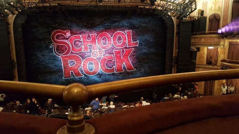 Vista sentada para Winter Garden Theatre Secção Mezzanine RC Fila A Lugar 106 & 108