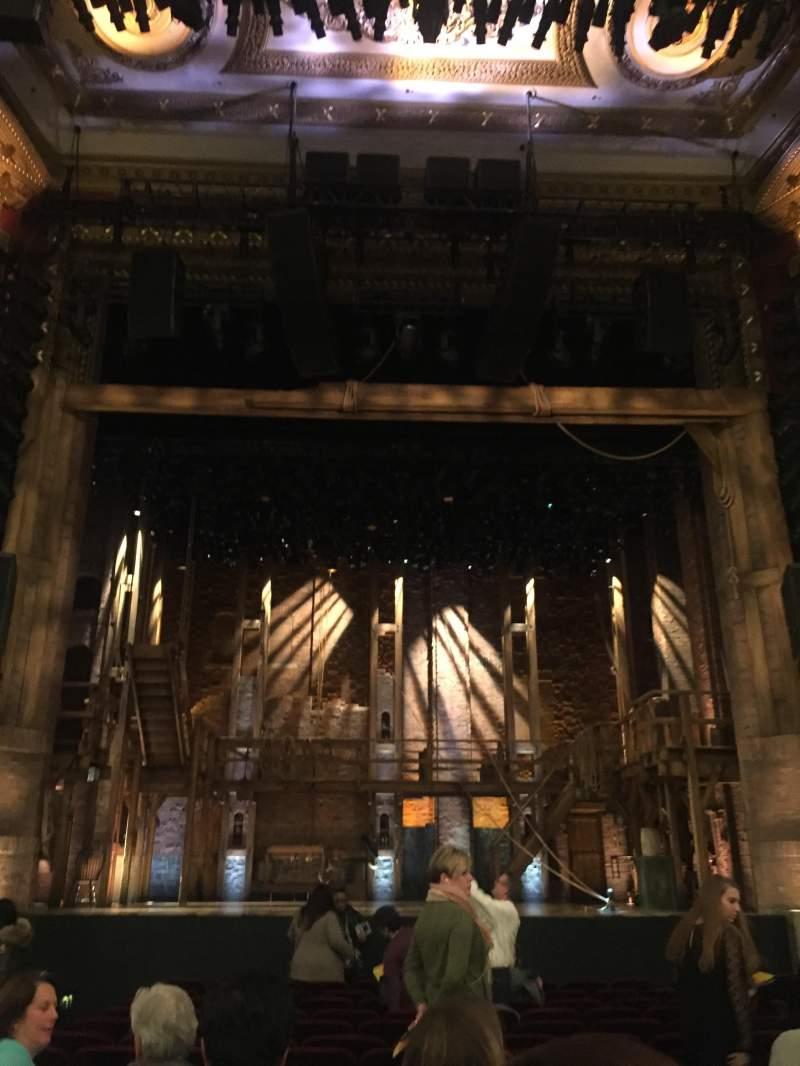 Vista sentada para CIBC Theatre Secção Orchestra C Fila Q Lugar 105