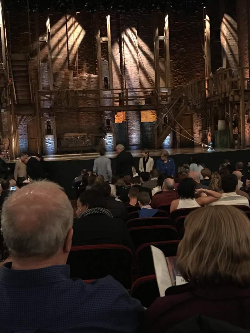 Vista sentada para CIBC Theatre Secção Orchestra C Fila T Lugar 101-102