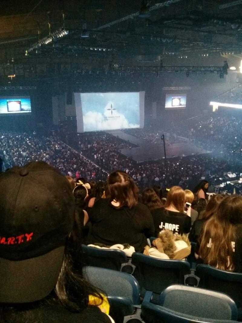Vista sentada para Allstate Arena Secção 216 Fila O Lugar 26
