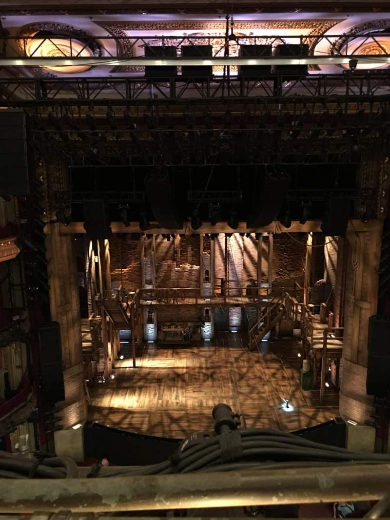 Vista sentada para CIBC Theatre Secção Balcony LC Fila A Lugar 401