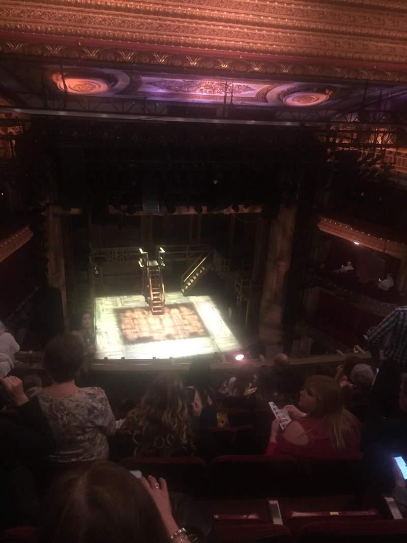 Vista sentada para CIBC Theatre Secção Balcony RC Fila G Lugar 417