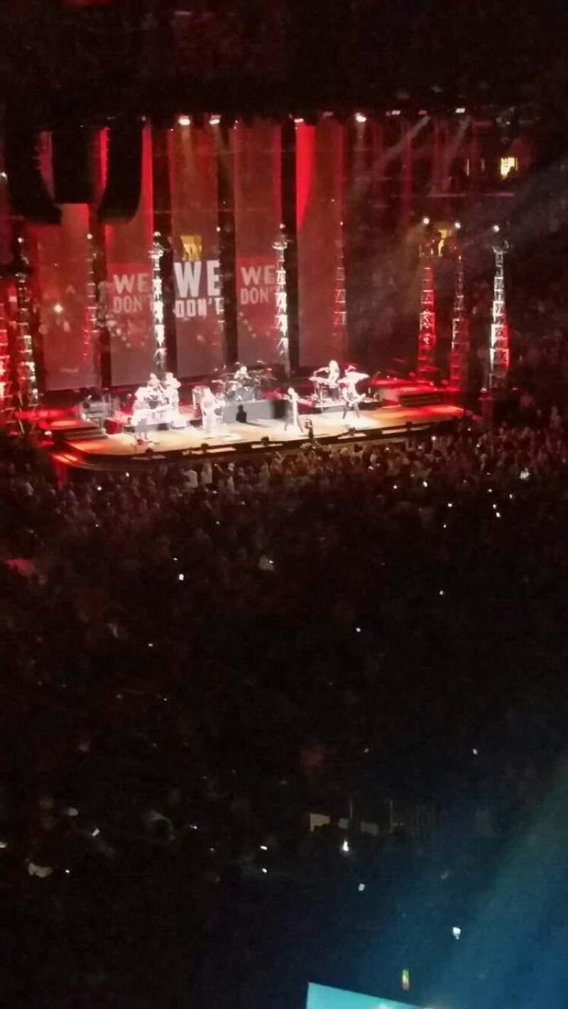 Vista sentada para Madison Square Garden Secção 201 Fila 3 Lugar 5