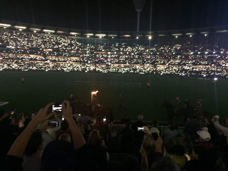 Vista sentada para Melbourne Cricket Ground Secção M46 Fila O Lugar 9