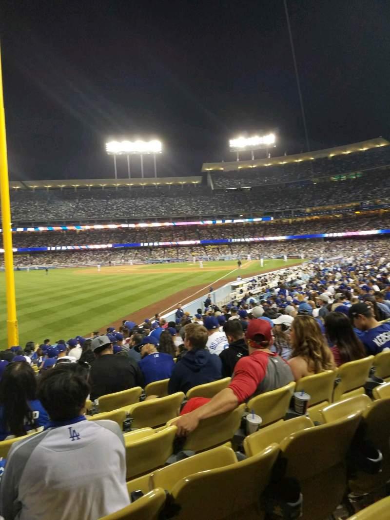 Vista sentada para Dodger Stadium Secção 49FD Fila R Lugar 20