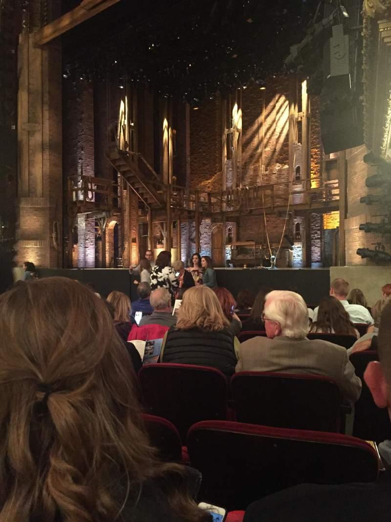 Vista sentada para CIBC Theatre Secção Orchestra r Fila L Lugar 20