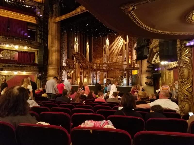 Vista sentada para CIBC Theatre Secção Orchestra R Fila Q Lugar 20