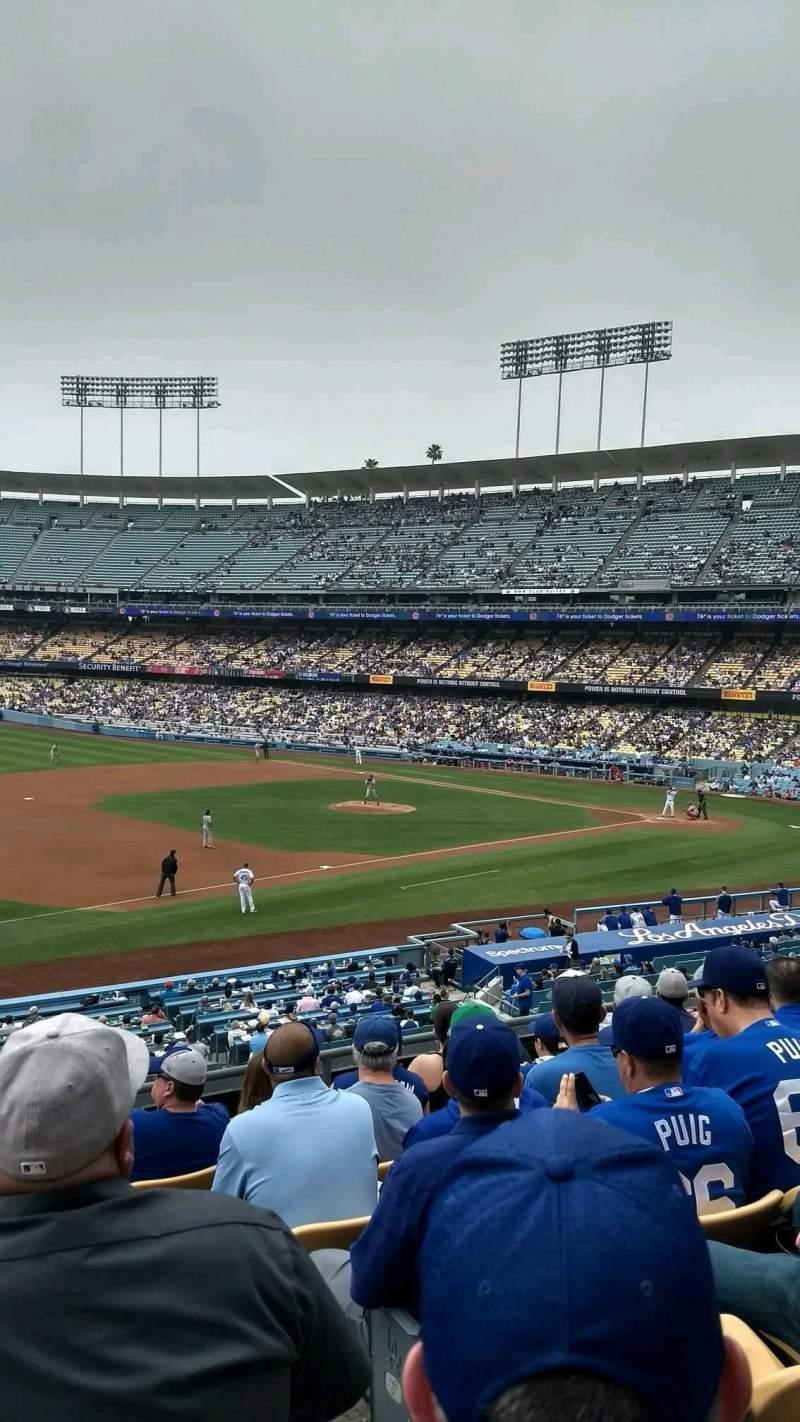 Vista sentada para Dodger Stadium Secção 145LG Fila G Lugar 2