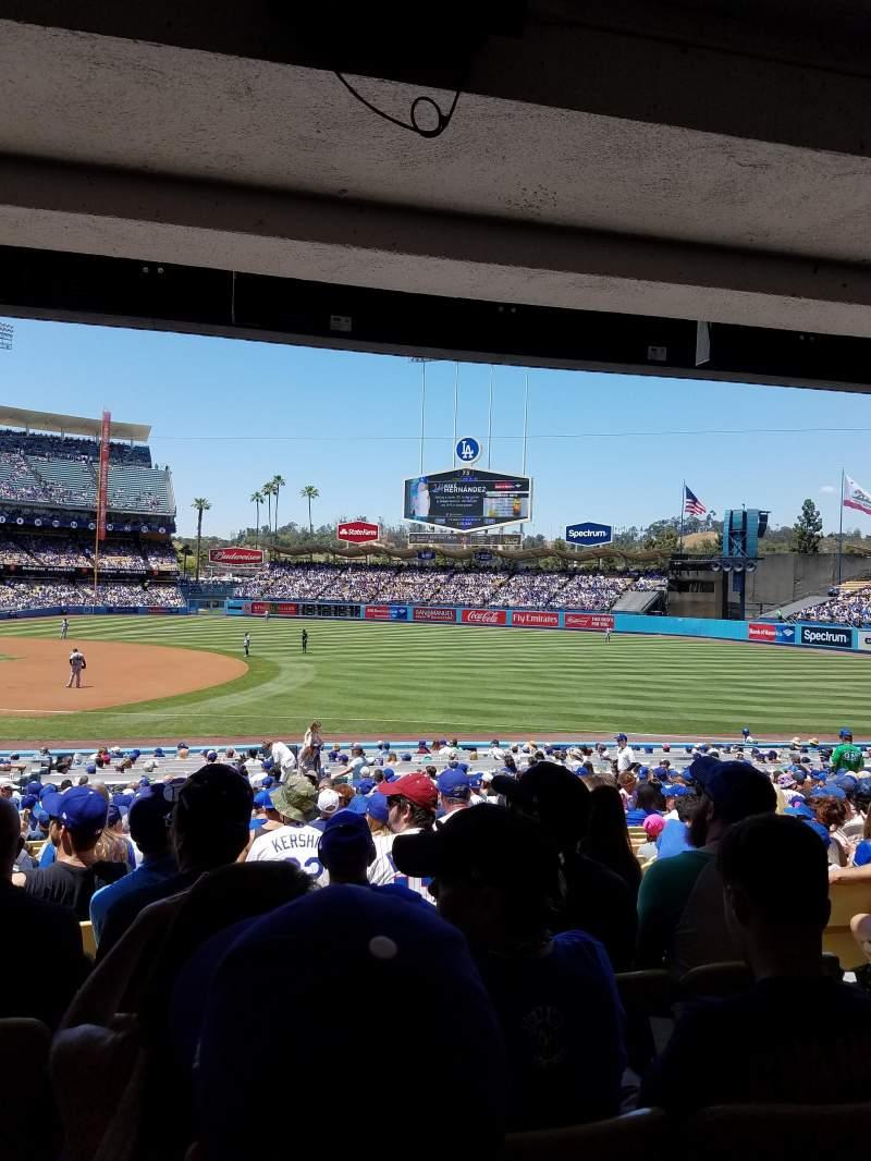 Vista sentada para Dodger Stadium Secção 30FD Fila W Lugar 5