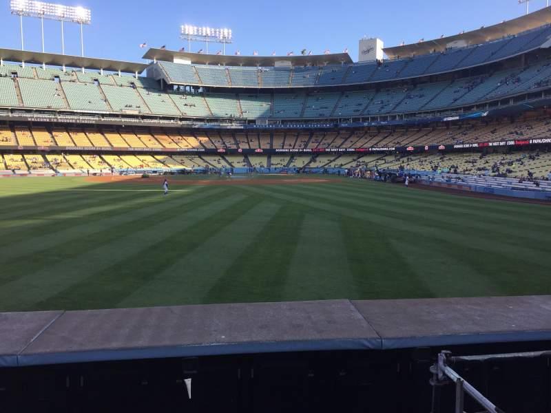 Vista sentada para Dodger Stadium Secção 305PL Fila A Lugar 5