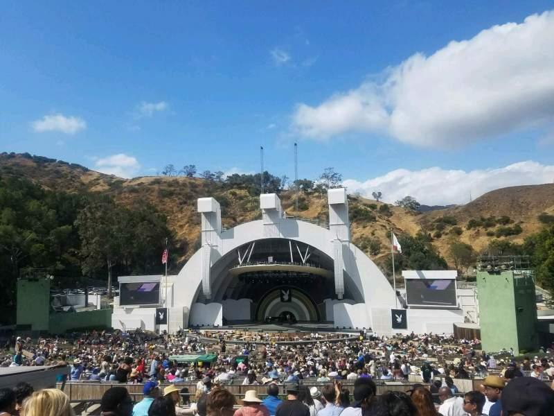 Vista sentada para Hollywood Bowl Secção G2 Fila 12 Lugar 24