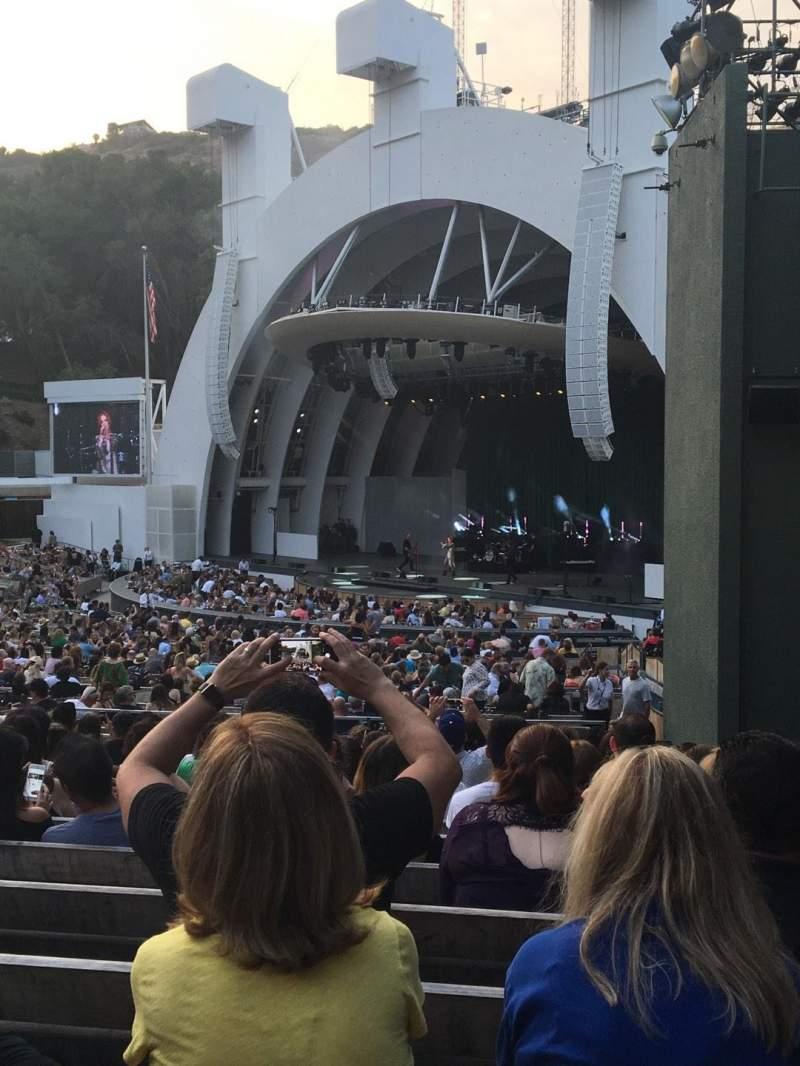 Vista sentada para Hollywood Bowl Secção D Fila 13 Lugar 44