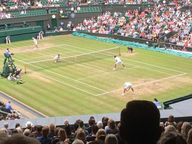 Vista sentada para Wimbledon, Centre Court Secção 302 Fila T Lugar 041