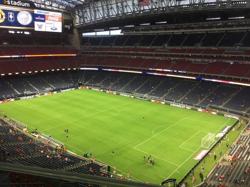 Vista sentada para NRG Stadium Secção 603 Fila A Lugar 4