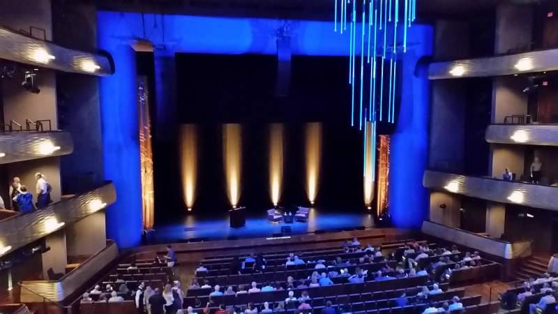 Vista sentada para Winspear Opera House Secção Mezzanine Fila A Lugar 18