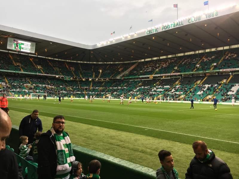 Vista sentada para Celtic Park Secção FS7 Fila 5 Lugar 5