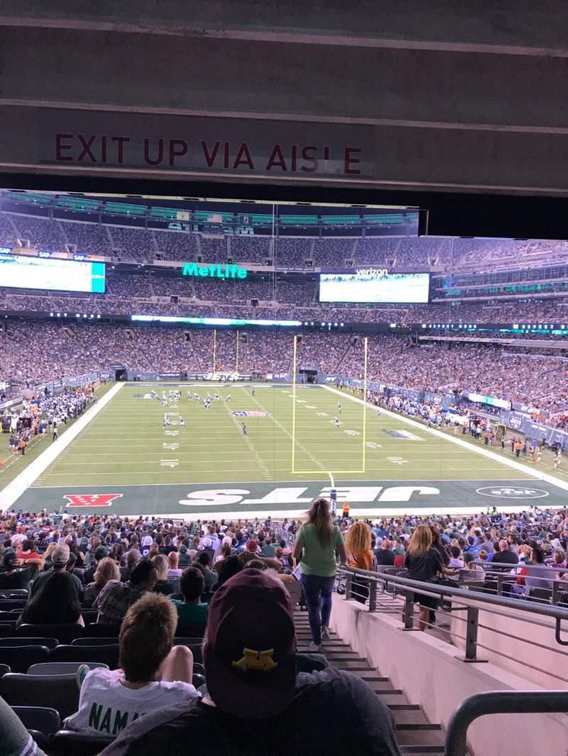 Vista sentada para MetLife Stadium Secção 103 Fila 26 Lugar 4
