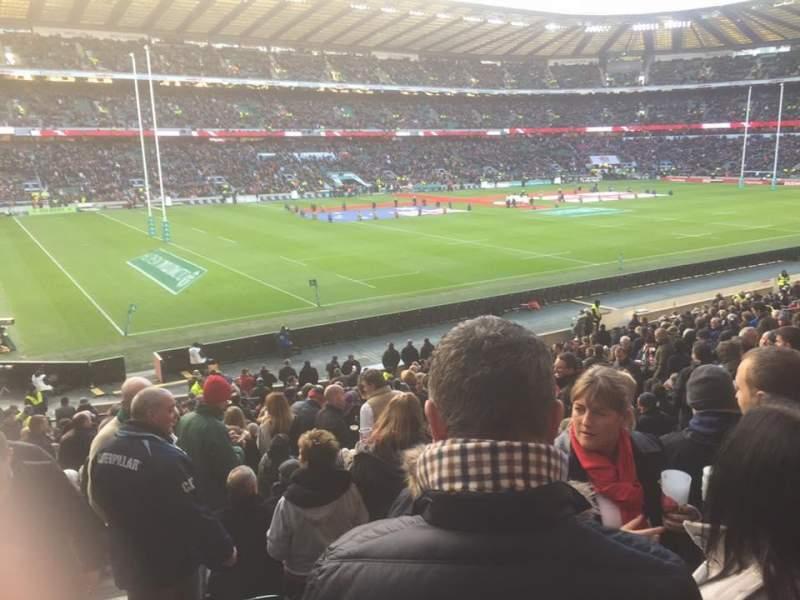 Vista sentada para Twickenham Stadium Secção L29 Fila 30 Lugar 349
