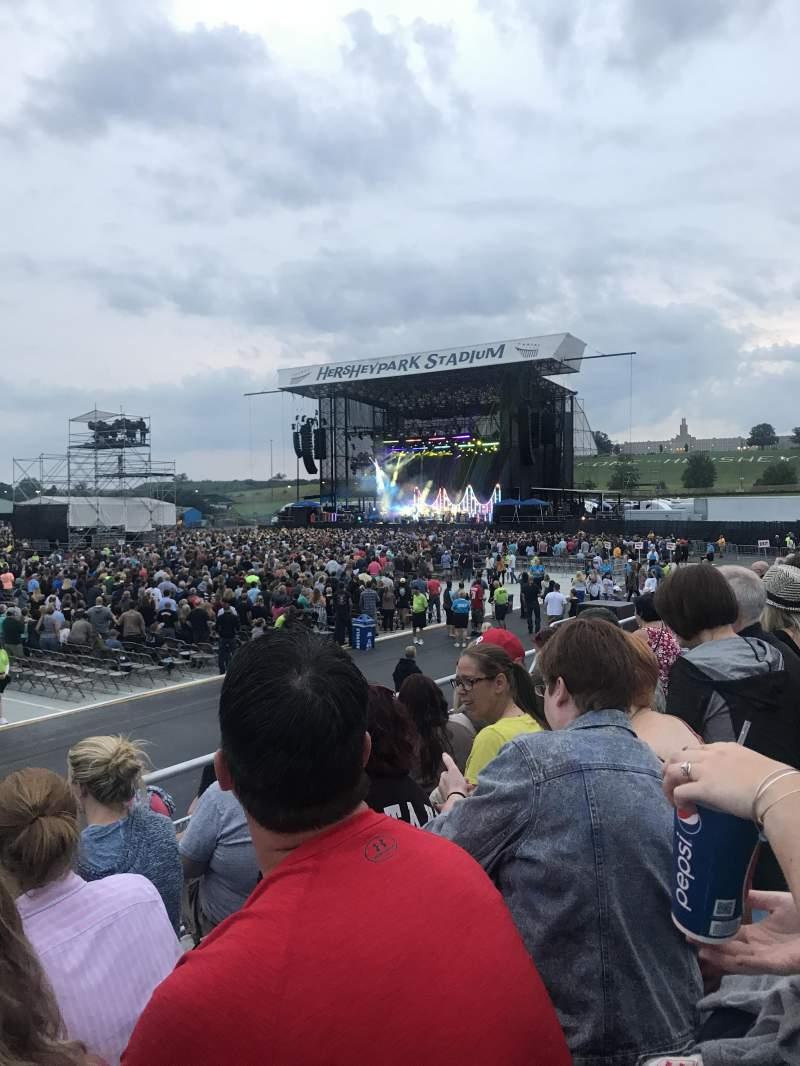 Vista sentada para Hershey Park Stadium Secção 28 Fila DD Lugar 23