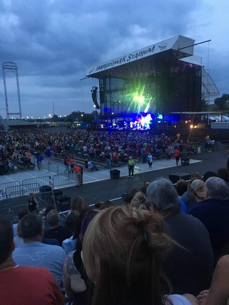 Vista sentada para Hershey Park Stadium Secção 26 Fila B Lugar 13