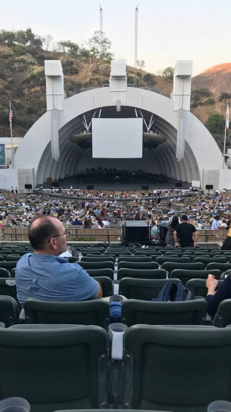 Vista sentada para Hollywood Bowl Secção H Fila 15 Lugar 108
