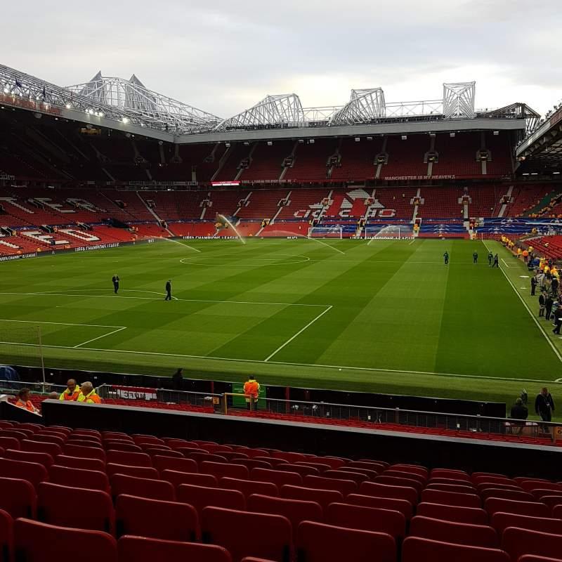Vista sentada para Old Trafford Secção W208 Fila 12 Lugar 125