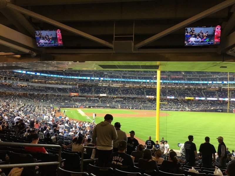 Vista sentada para Yankee Stadium Secção 108 Fila 19 Lugar 18