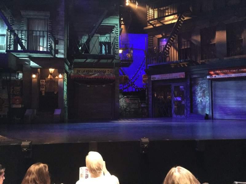 Vista sentada para Olney Theatre Secção Orch Fila H Lugar 104