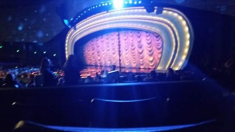 Vista sentada para Zappos Theater Secção 202 Fila C Lugar 3-4