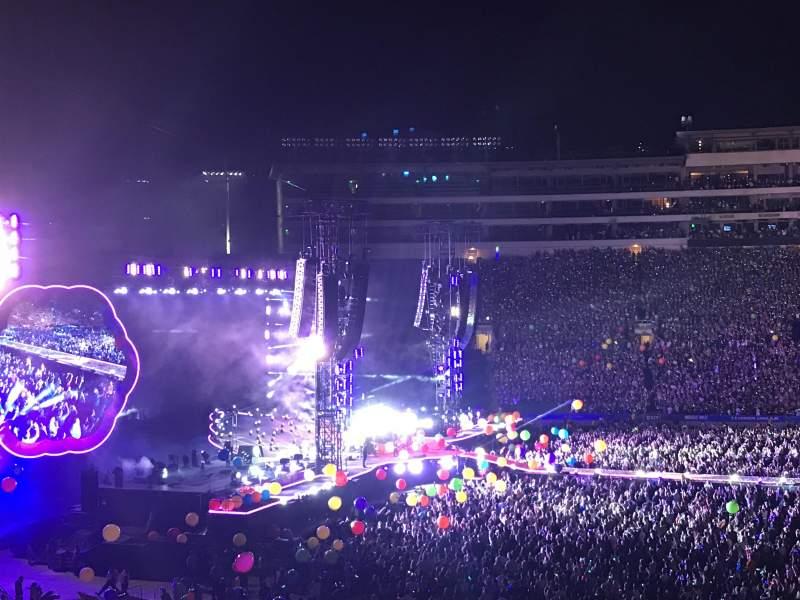 Vista sentada para Rose Bowl Secção 4-H Fila 50 Lugar 117