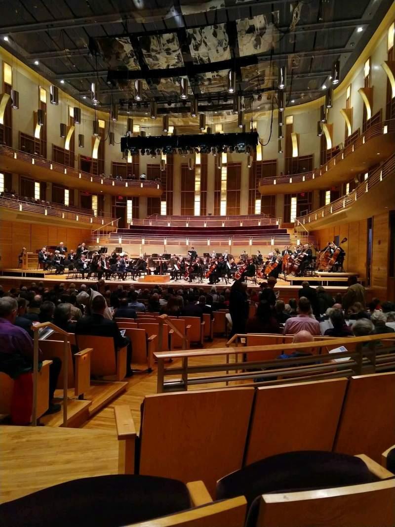 Vista sentada para The Music Center at Strathmore Secção Orchestra Tier Right Fila CC Lugar 4