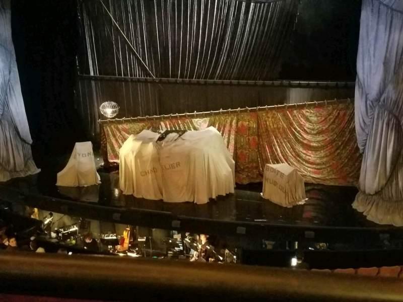 Vista sentada para Majestic Theatre Secção Front Mezzanine R Fila A Lugar 6