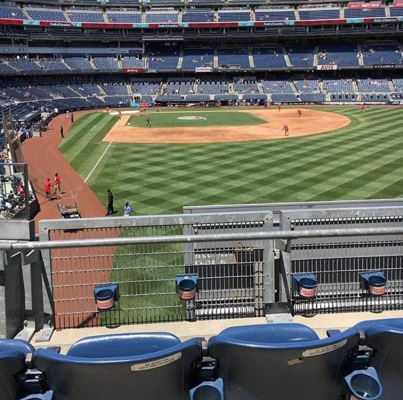 Vista sentada para Yankee Stadium Secção 206 Fila 3 Lugar 1