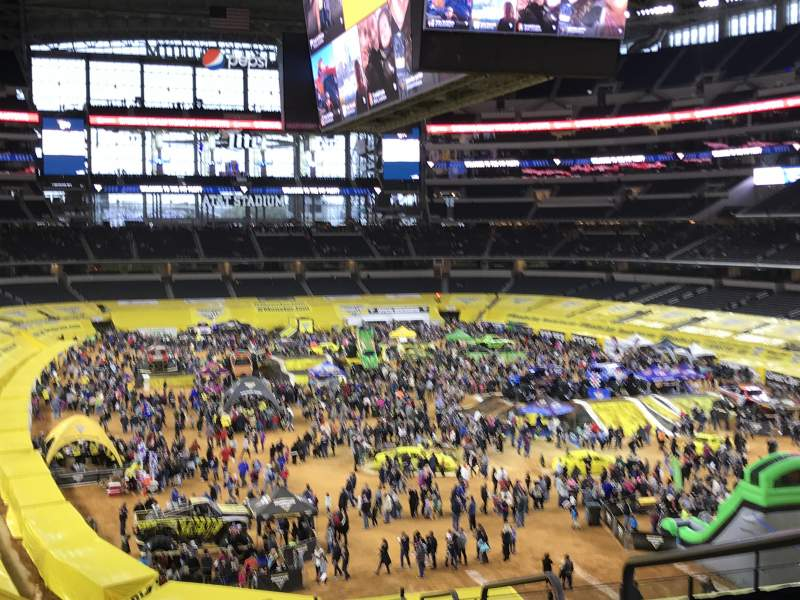 Vista sentada para AT&T Stadium Secção 201