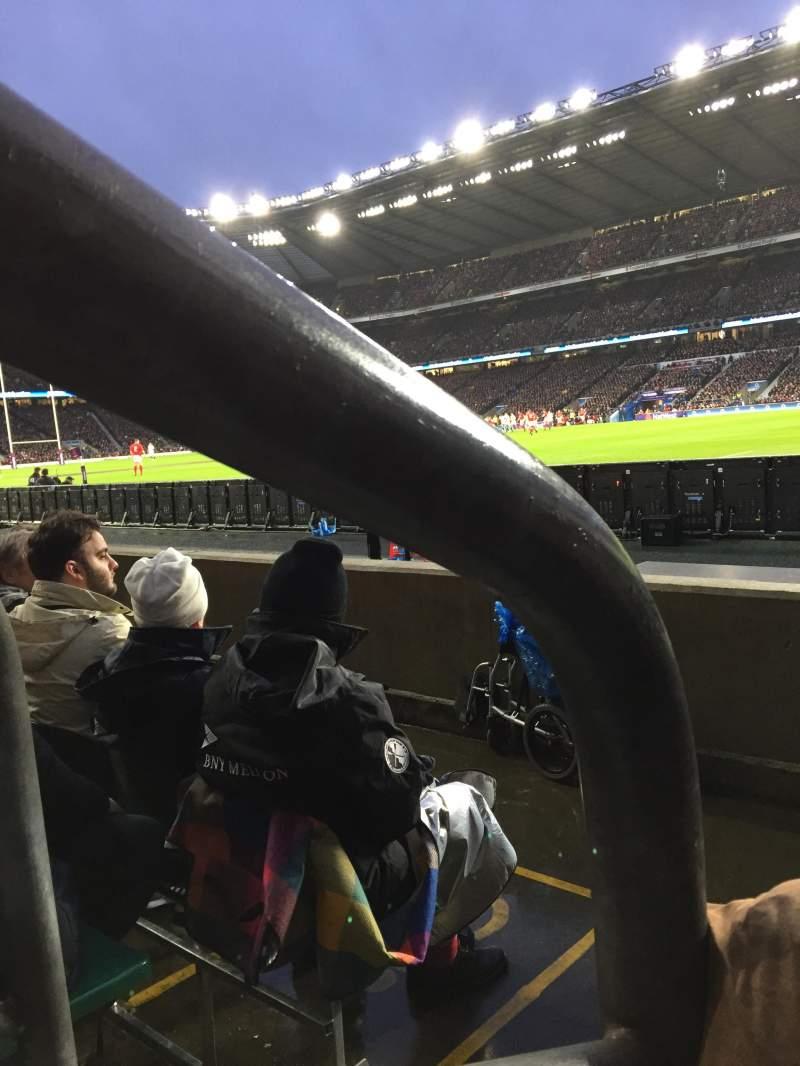 Vista sentada para Twickenham Stadium Secção L21 Fila 3 Lugar 93