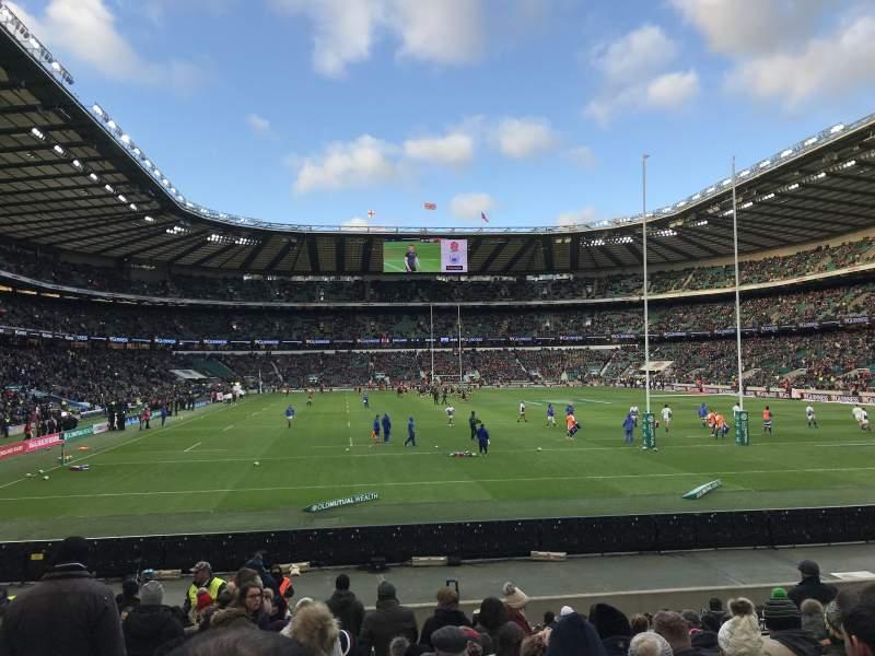 Vista sentada para Twickenham Stadium Secção L35 Fila 18 Lugar 207
