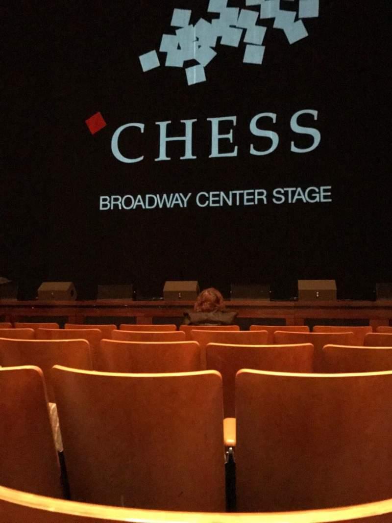 Vista sentada para The Kennedy Center Eisenhower Theater Secção Orchestra Fila F Lugar 105