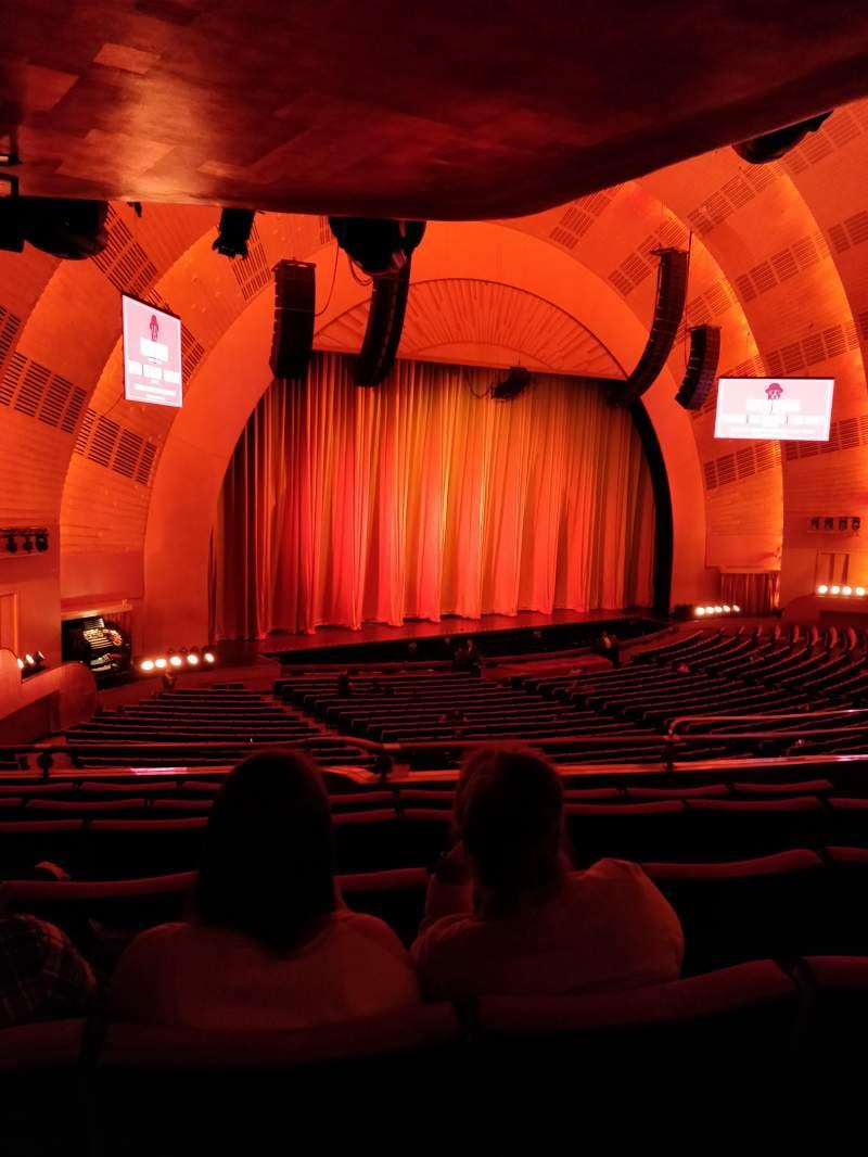Vista sentada para Radio City Music Hall Secção 1st Mezzanine 7 Fila E Lugar 709