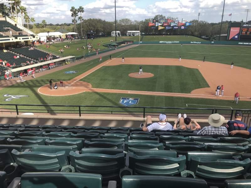 Vista sentada para Champion Stadium Secção 209 Fila H Lugar 7