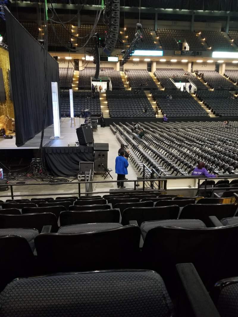Vista sentada para Royal Farms Arena Secção 103 Fila H Lugar 3