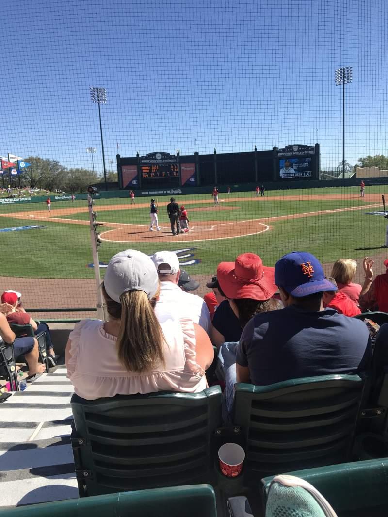 Vista sentada para Champion Stadium Secção 112 Fila G Lugar 16