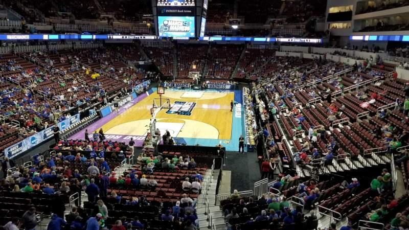 Vista sentada para Intrust Bank Arena Secção 208 Fila A Lugar 16