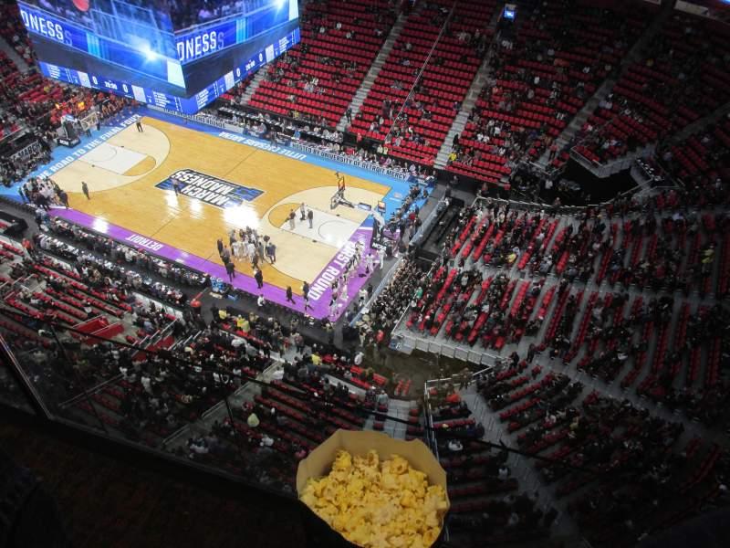 Vista sentada para Little Caesars Arena Secção G30 Fila 1 Lugar 1